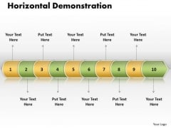 Ppt Linear Arrow 10 Phase Diagram PowerPoint Templates