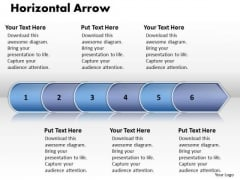 Ppt Linear Arrow 6 Stages PowerPoint Templates