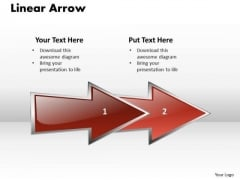 Ppt Linear Arrow Business 2 Stages PowerPoint Templates