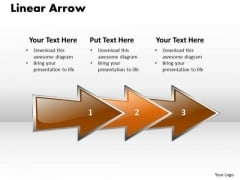 Ppt Linear Arrow Business 3 Stages PowerPoint Templates
