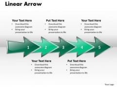 Ppt Linear Arrow Business 5 Stages PowerPoint Templates