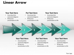 Ppt Linear Arrow Business 6 Stages PowerPoint Templates