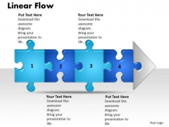 Ppt Linear Demo Create Flow Chart PowerPoint 4 Stage Style1 Templates