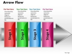 Ppt Linear Demo Create Flow Chart PowerPoint Arrow 4 Stages Templates