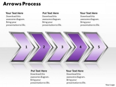 Ppt Linear Demonstration Of 3d Arrows PowerPoint Process Templates