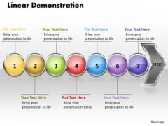 Ppt Linear Demonstration Of 7 Concepts PowerPoint Templates