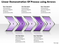 Ppt Linear Demonstration Of Process Using Arrows Business PowerPoint Templates