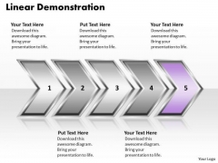 Ppt Linear Demonstration Of Process Using PowerPoint Graphics Arrows Templates