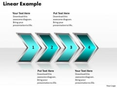 Ppt Linear Example Of Process Using 4 Stages PowerPoint Templates