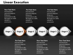 Ppt Linear Execution Of 6 Steps Involved Process PowerPoint Templates
