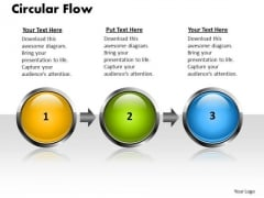 Ppt Linear Flow 3 Stages PowerPoint Templates