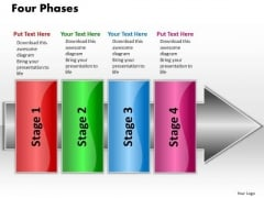 Ppt Linear Flow 4 Phases2 PowerPoint Templates