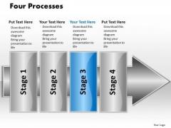 Ppt Linear Flow 4 Processes2 PowerPoint Templates