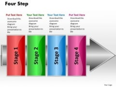 Ppt Linear Flow 4 Steps2 PowerPoint Templates