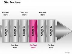 Ppt Linear Flow 6 Factors PowerPoint Templates