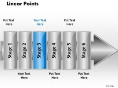 Ppt Linear Flow 6 Points PowerPoint Templates