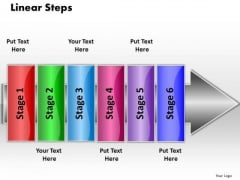 Ppt Linear Flow 6 Stepts PowerPoint Templates