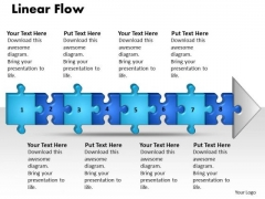 Ppt Linear Flow 8 Stages Style1 PowerPoint Templates