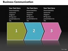 Ppt Linear Flow Business PowerPoint Templates Download Communication Diagram
