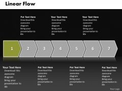 Ppt Linear Flow Illustration Practice The PowerPoint Macro Steps Of An Action Templates