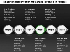 Ppt Linear Flow Of 6 Create PowerPoint Macro Involved Process Templates