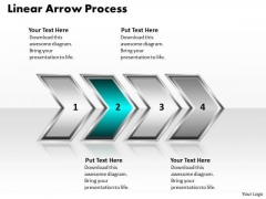 Ppt Linear Flow Of Business PowerPoint Presentation Process Using 4 Stages Templates