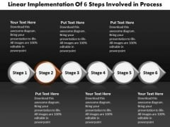 Ppt Linear Flow Of Free Business Marketing Presentation PowerPoint Process Templates