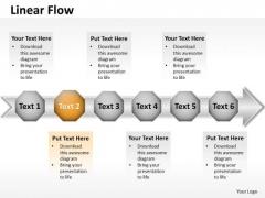Ppt Linear Flow Plan Forging Process PowerPoint Slides Templates