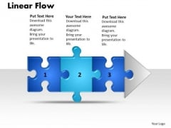 Ppt Linear Flow Process Charts 3 Power Point Stage Style1 PowerPoint Templates