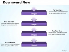 Ppt Linear Flow Process Charts 4 Power Point Stage PowerPoint Templates
