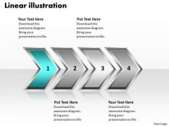 Ppt Linear Illustration Of Procedure Using 4 Stages PowerPoint Templates