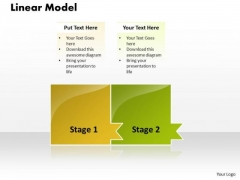 Ppt Linear Model Of 2 Stages PowerPoint Templates