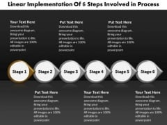 Ppt Linear Order Flow Of 6 Steps Involved Process PowerPoint Templates