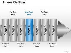 Ppt Linear Outflow 7 Power Point Stage PowerPoint Templates
