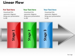 Ppt Linear Process Flow PowerPoint Template 3 Stages1 Templates