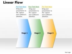 Ppt Linear Process Flow PowerPoint Template 3 State Diagram Templates