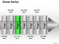 Ppt Linear Series 7 Stages5 PowerPoint Templates