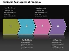 Ppt Linear Steps Business Process Management Diagram PowerPoint Free Templates