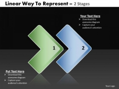 Ppt Linear Way To Show 2 Stages PowerPoint Templates