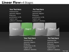Ppt Mechanism Of Four Stages Marketing Linear Flow Project Management PowerPoint 3 Image