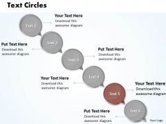 Ppt Moving Down Circular Arrows PowerPoint 2007 Text Circles Templates