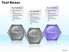 Ppt Multi Color Hexagonal Text Boxes 3 Power Point Stage PowerPoint Templates