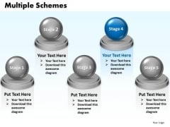 Ppt Multiple Schemes Diagram 5 Stages Presentation PowerPoint Tips 0812 Templates