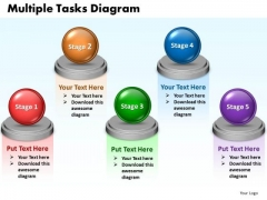 Ppt Multiple Tasks Chart 5 Stages PowerPoint Templates 2003