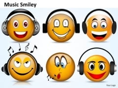 Ppt Music Smiley Emoticon With Guitar Operations Management PowerPoint Templates