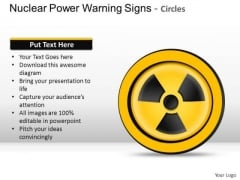Ppt Nuclear Power Warning Signs Circles PowerPoint Slides And Ppt Diagram Templates