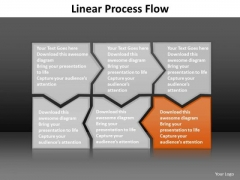 Ppt Orange Piece Connected In Linear Process Flow PowerPoint Template Templates