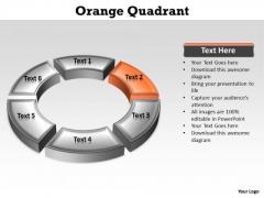 Ppt Orange Stage Through PowerPoint Presentation Circular Diagram Templates