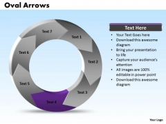 Ppt Oval 3d Arrows PowerPoint 7 Aspects Templates