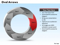 Ppt Oval 3d Arrows PowerPoint 7 Phases Templates